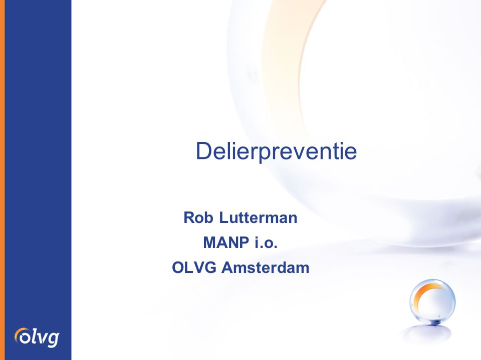 Rob Lutterman MANP i.o. OLVG Amsterdam
