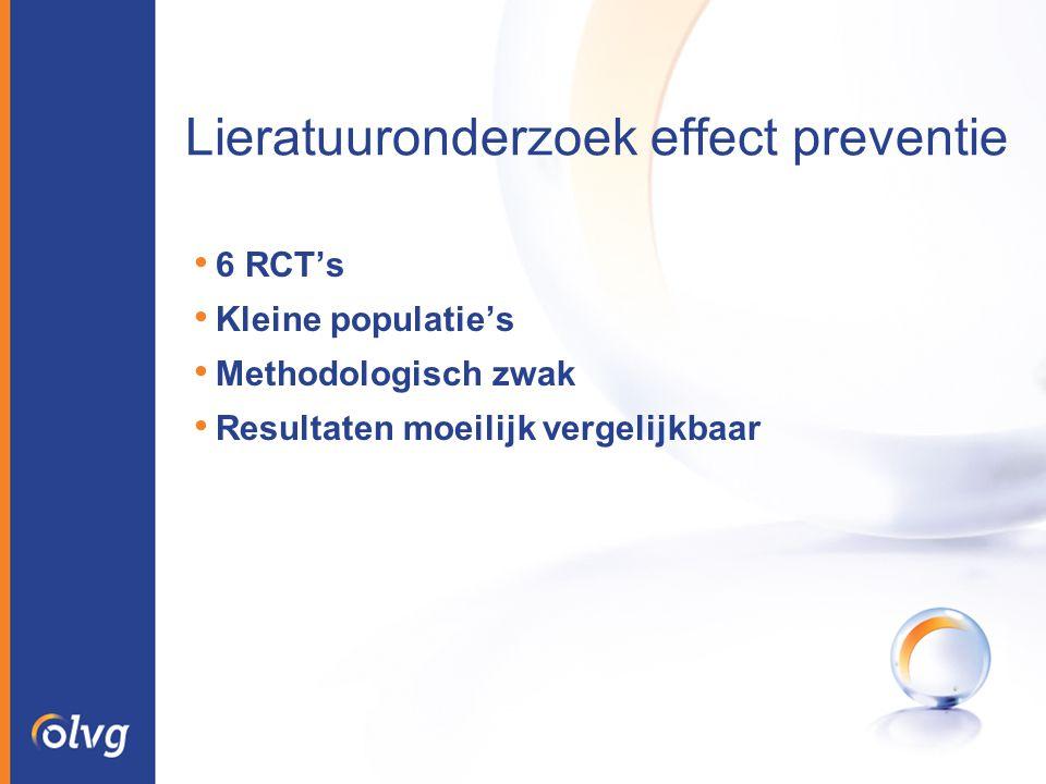 Lieratuuronderzoek effect preventie