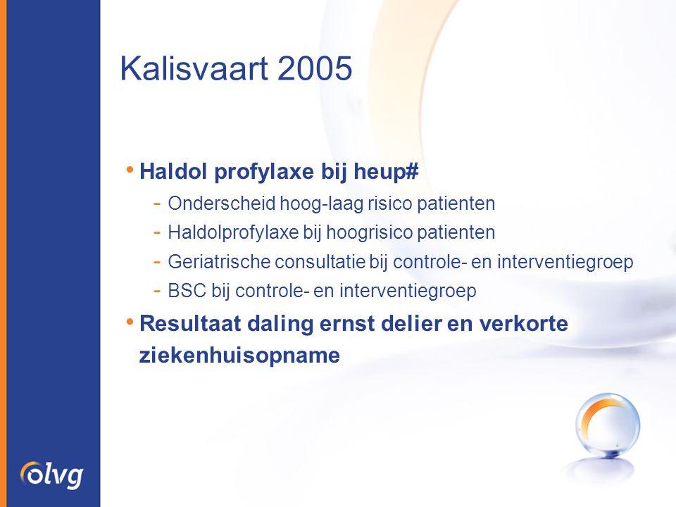 Kalisvaart 2005 Haldol profylaxe bij heup#