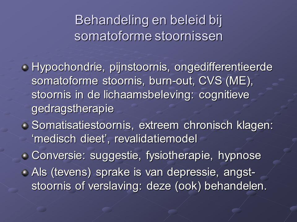 Behandeling en beleid bij somatoforme stoornissen