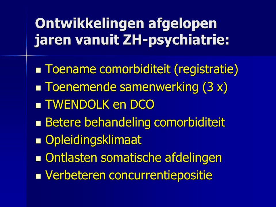 Ontwikkelingen afgelopen jaren vanuit ZH-psychiatrie: