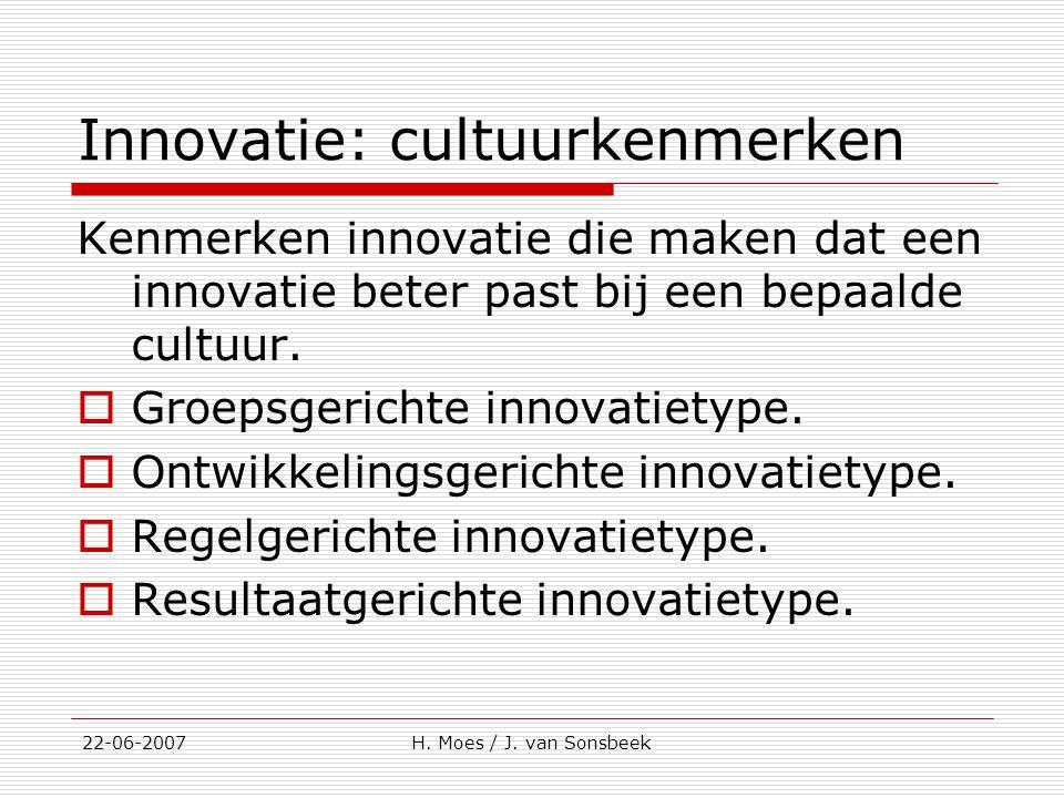 Innovatie: cultuurkenmerken