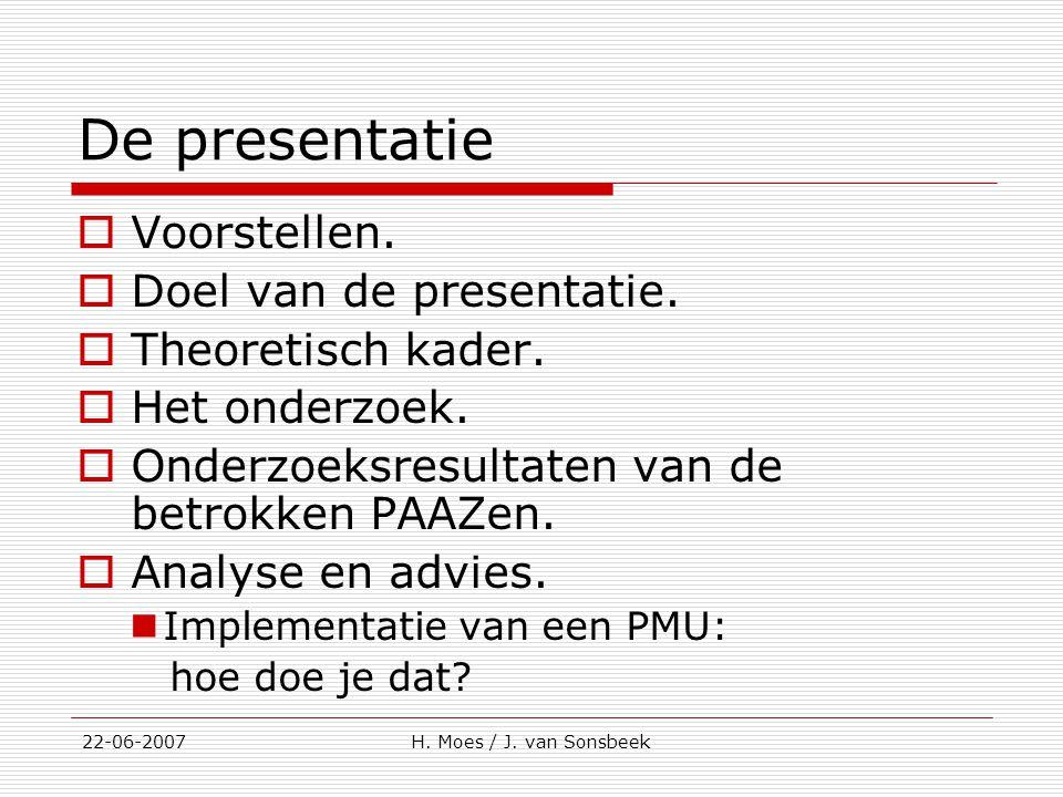 De presentatie Voorstellen. Doel van de presentatie.