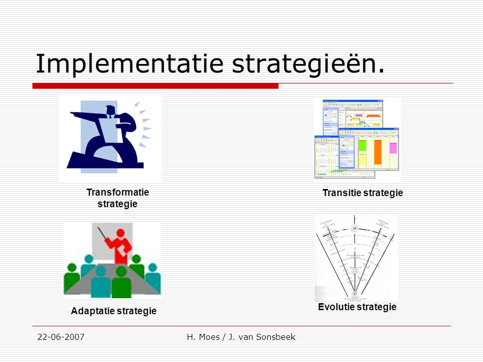 Implementatie strategieën.