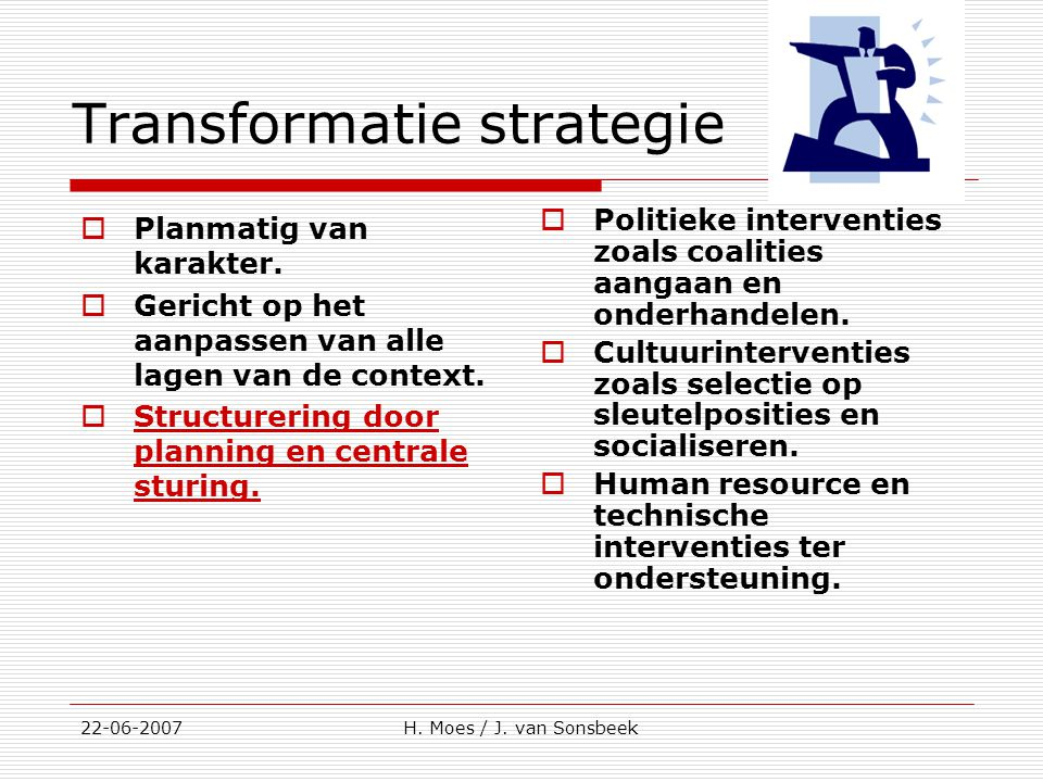 Transformatie strategie