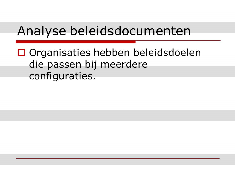 Analyse beleidsdocumenten