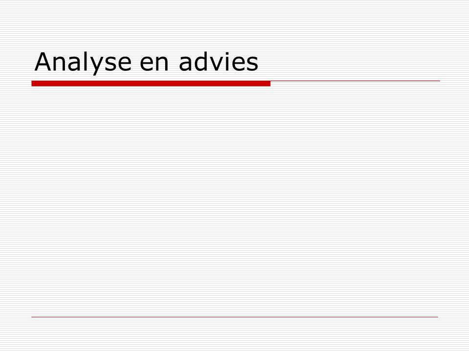 Analyse en advies