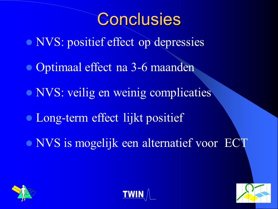 Conclusies NVS: positief effect op depressies