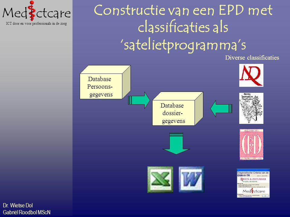 Constructie van een EPD met classificaties als 'satelietprogramma's
