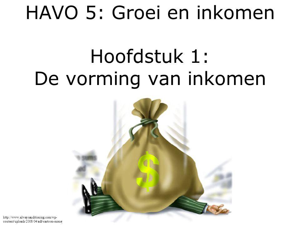 HAVO 5: Groei en inkomen Hoofdstuk 1: De vorming van inkomen