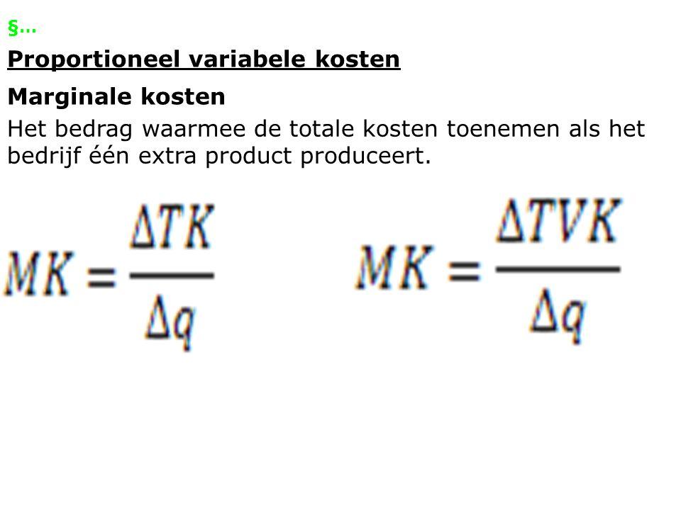 Proportioneel variabele kosten