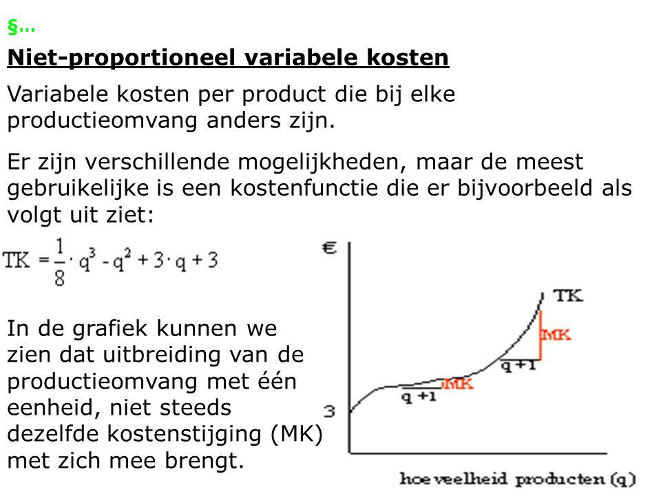 Niet-proportioneel variabele kosten