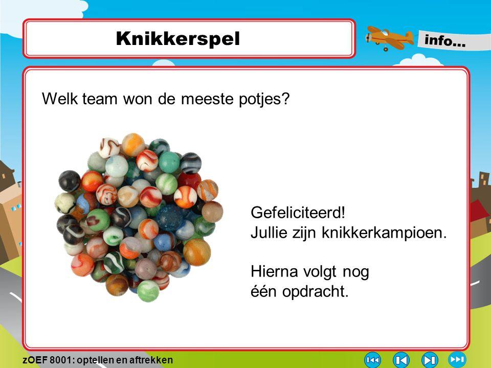 Knikkerspel Welk team won de meeste potjes