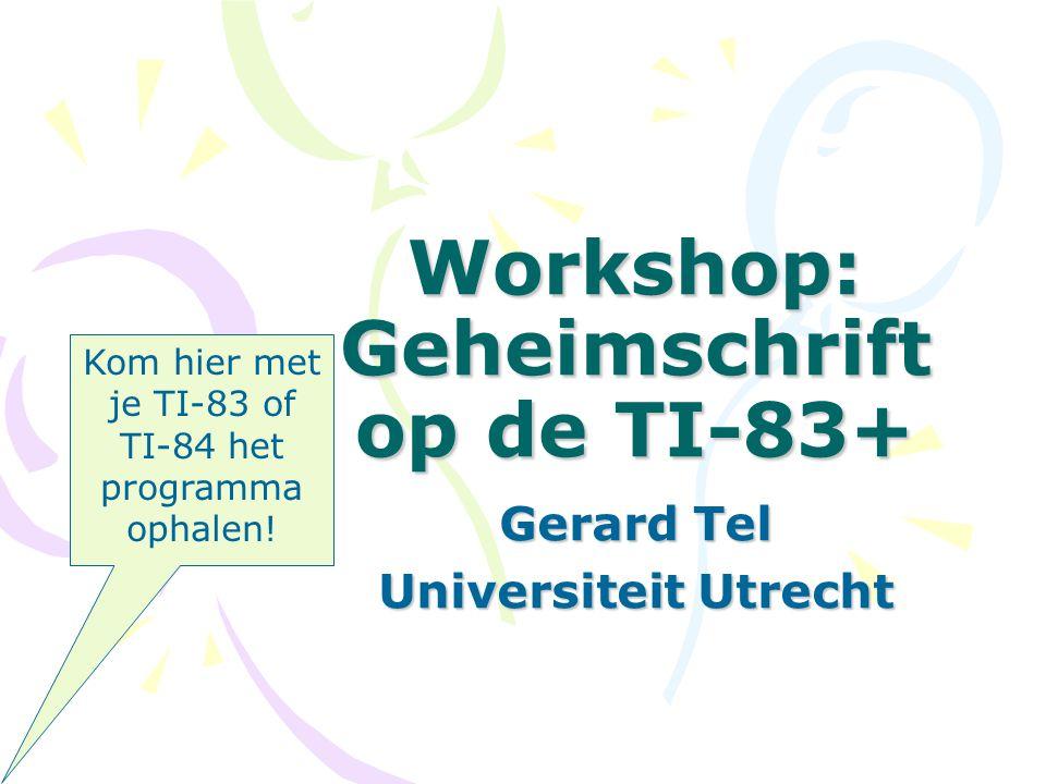 Workshop: Geheimschrift op de TI-83+