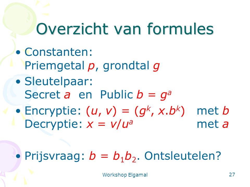Overzicht van formules