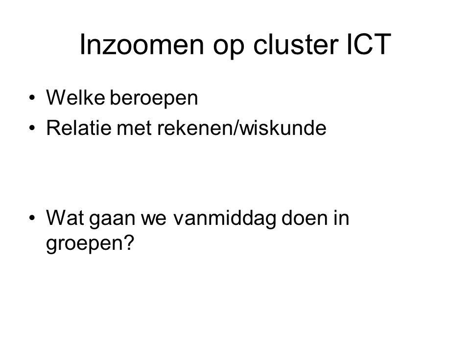 Inzoomen op cluster ICT