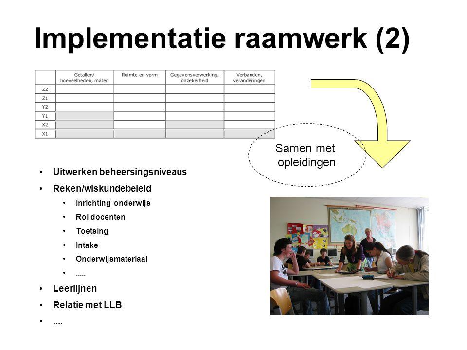 Implementatie raamwerk (2)