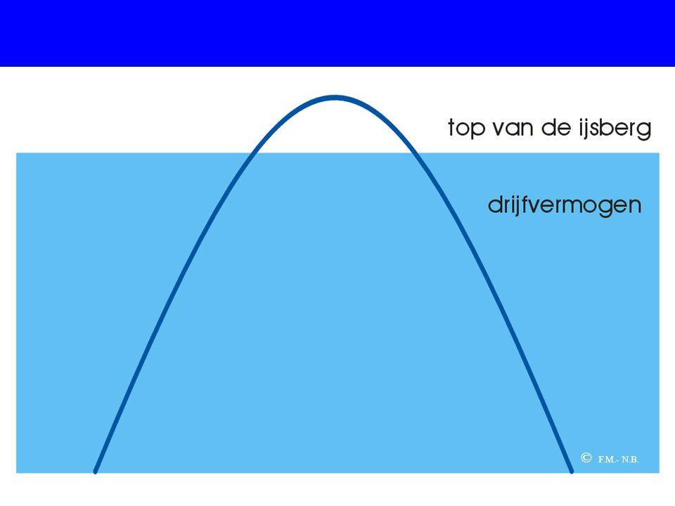 De volgende drie dia's behandelen de basismetafoor van het project: de ijsberg.