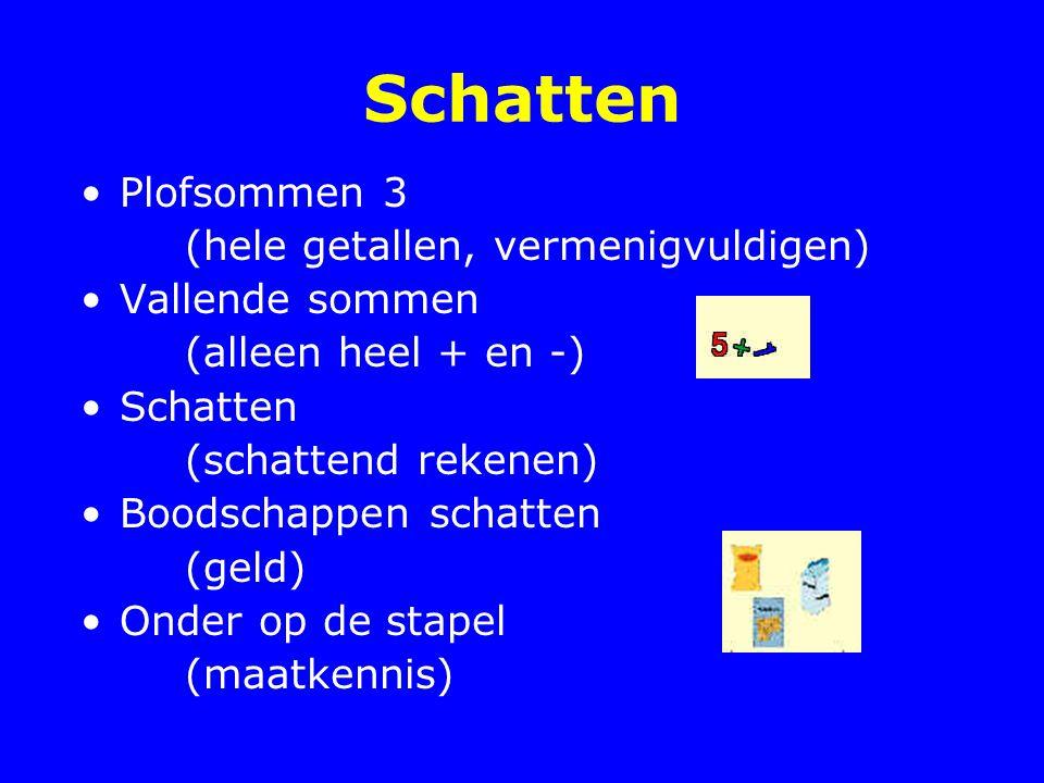Schatten Plofsommen 3 (hele getallen, vermenigvuldigen)