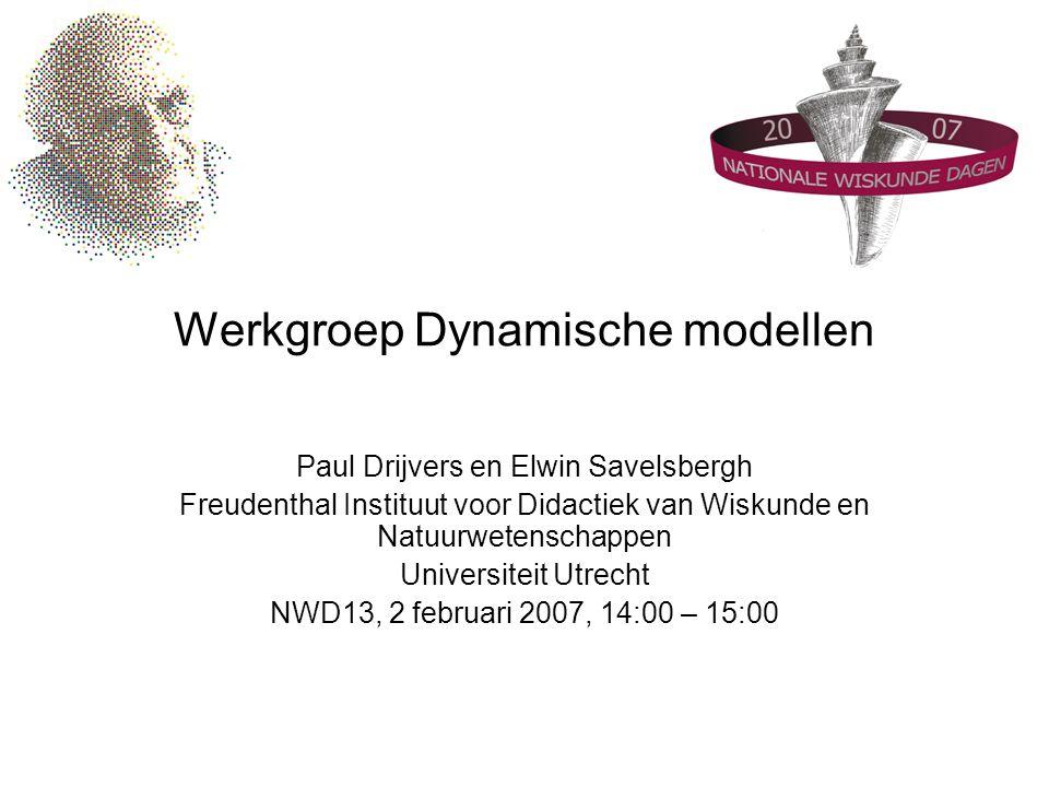 Werkgroep Dynamische modellen