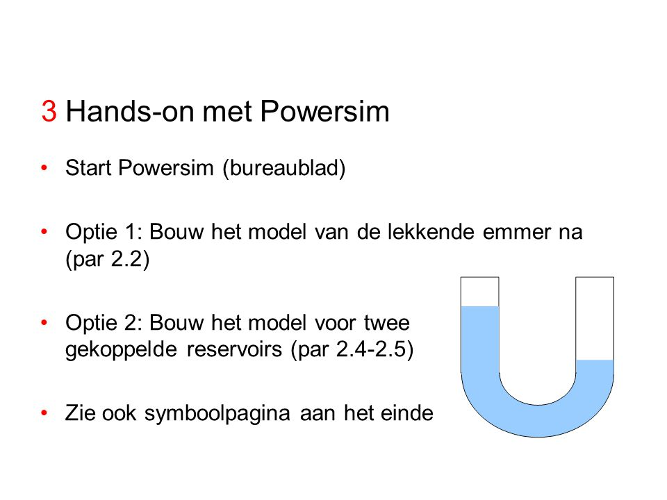 3 Hands-on met Powersim Start Powersim (bureaublad)