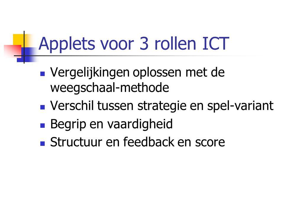 Applets voor 3 rollen ICT