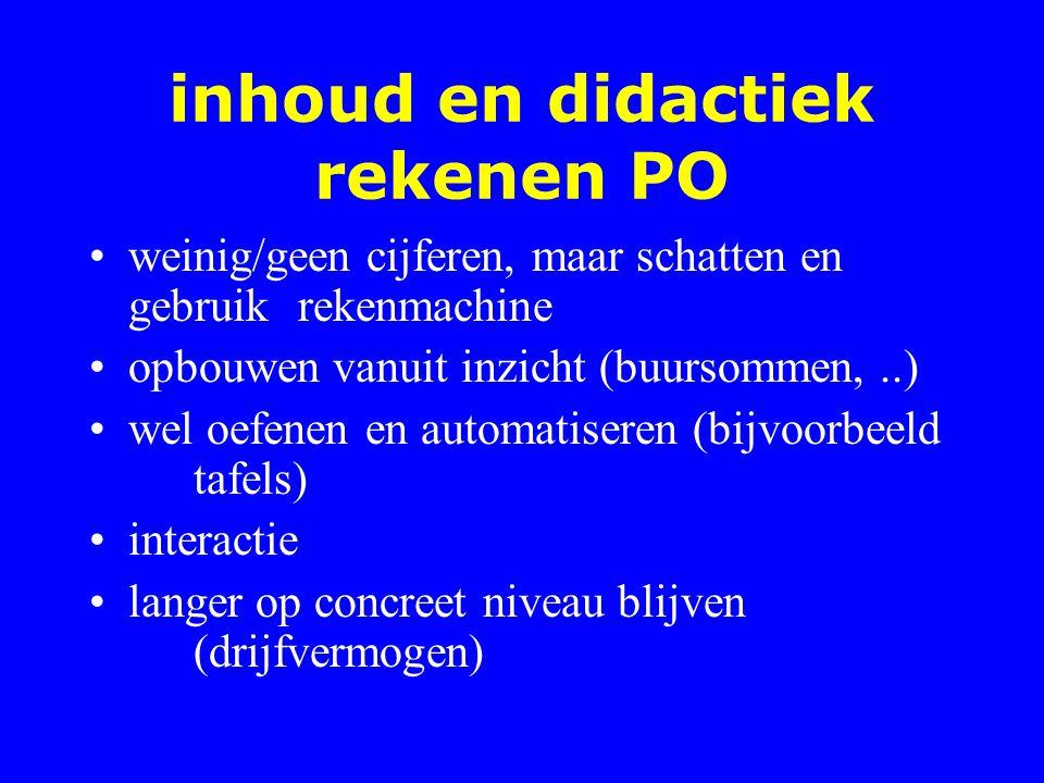 inhoud en didactiek rekenen PO