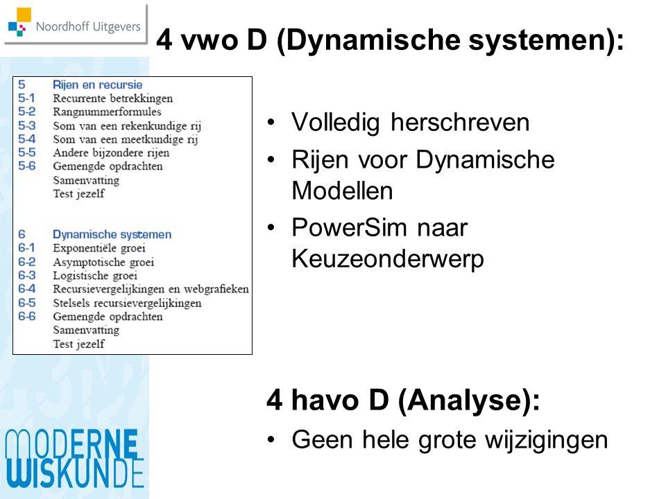 4 vwo D (Dynamische systemen):