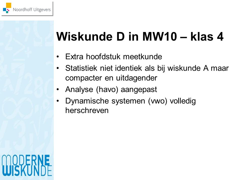 Wiskunde D in MW10 – klas 4 Extra hoofdstuk meetkunde