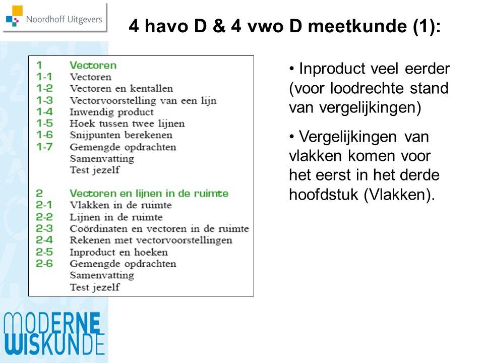 4 havo D & 4 vwo D meetkunde (1):