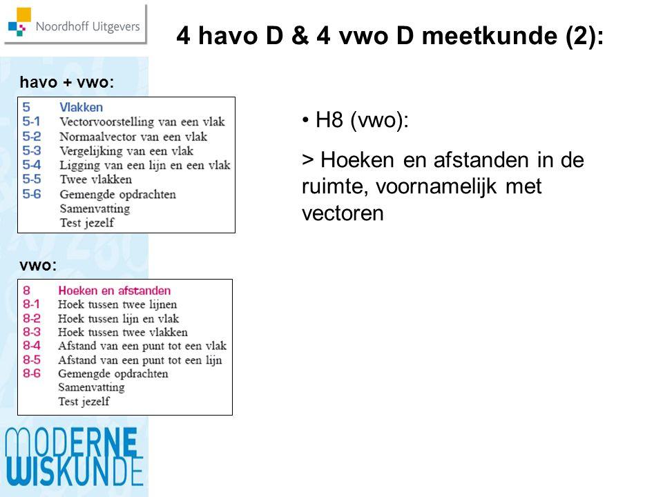 4 havo D & 4 vwo D meetkunde (2):