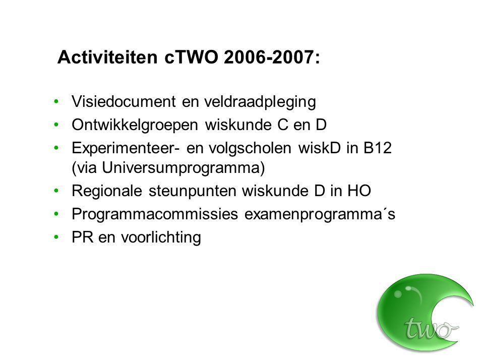 Activiteiten cTWO 2006-2007: Visiedocument en veldraadpleging