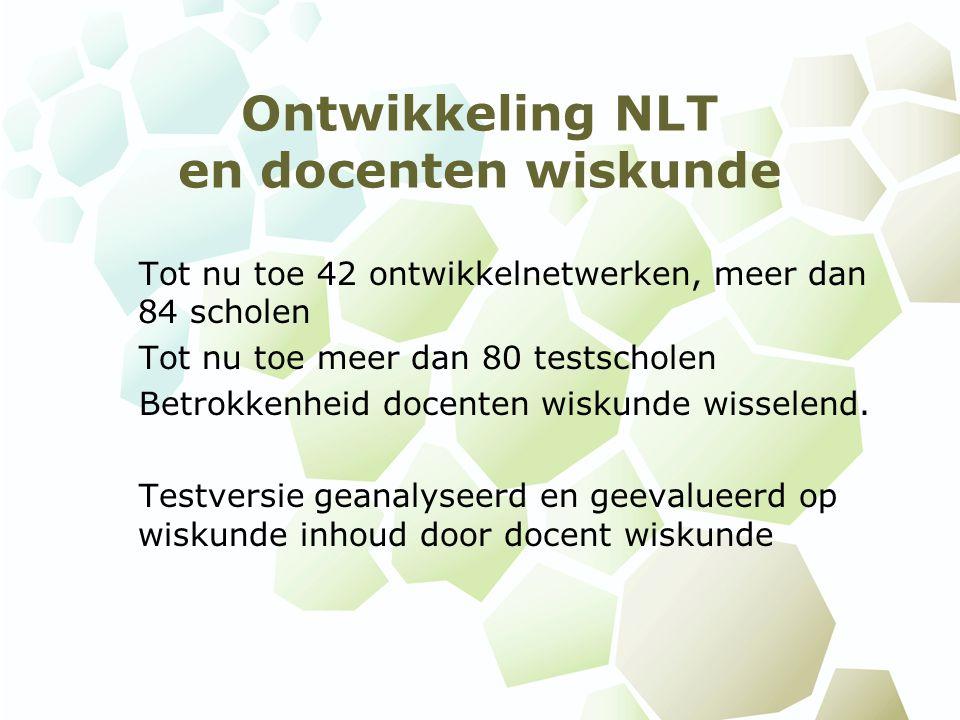 Ontwikkeling NLT en docenten wiskunde