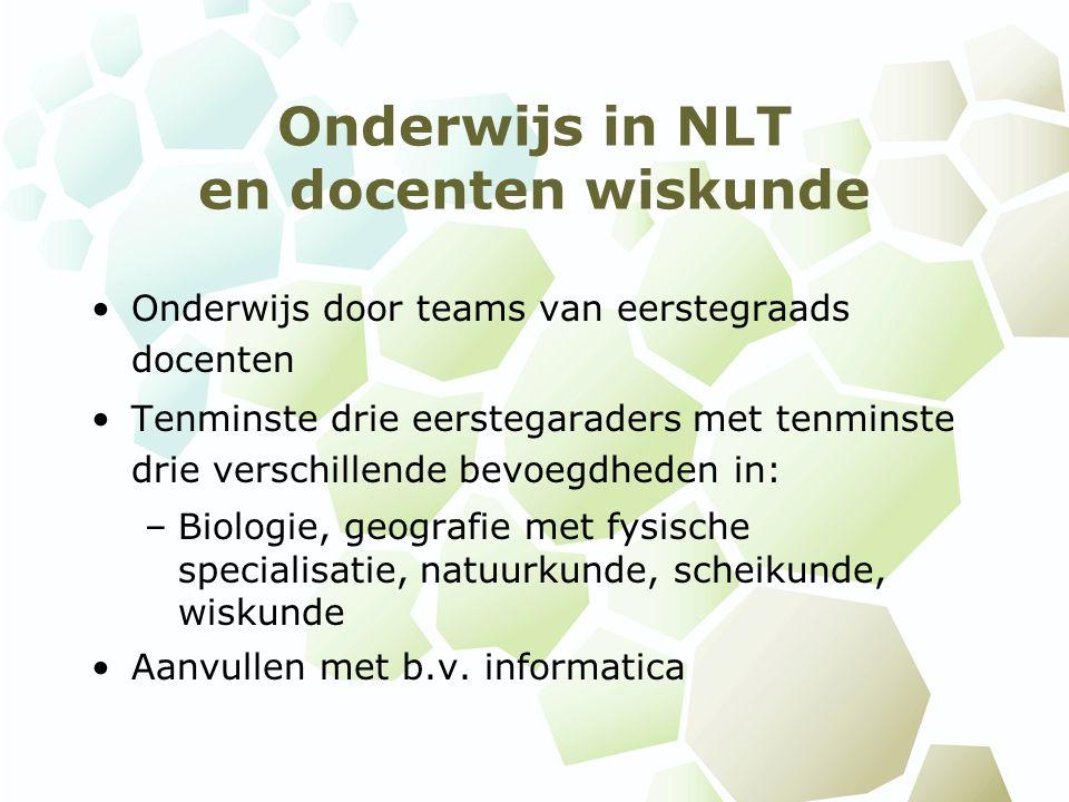 Onderwijs in NLT en docenten wiskunde