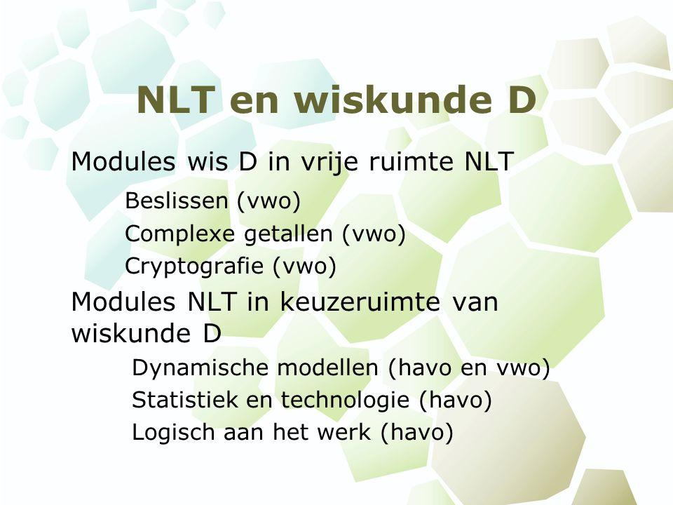 NLT en wiskunde D Modules wis D in vrije ruimte NLT Beslissen (vwo)