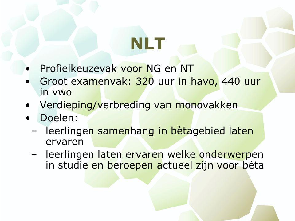 NLT Profielkeuzevak voor NG en NT