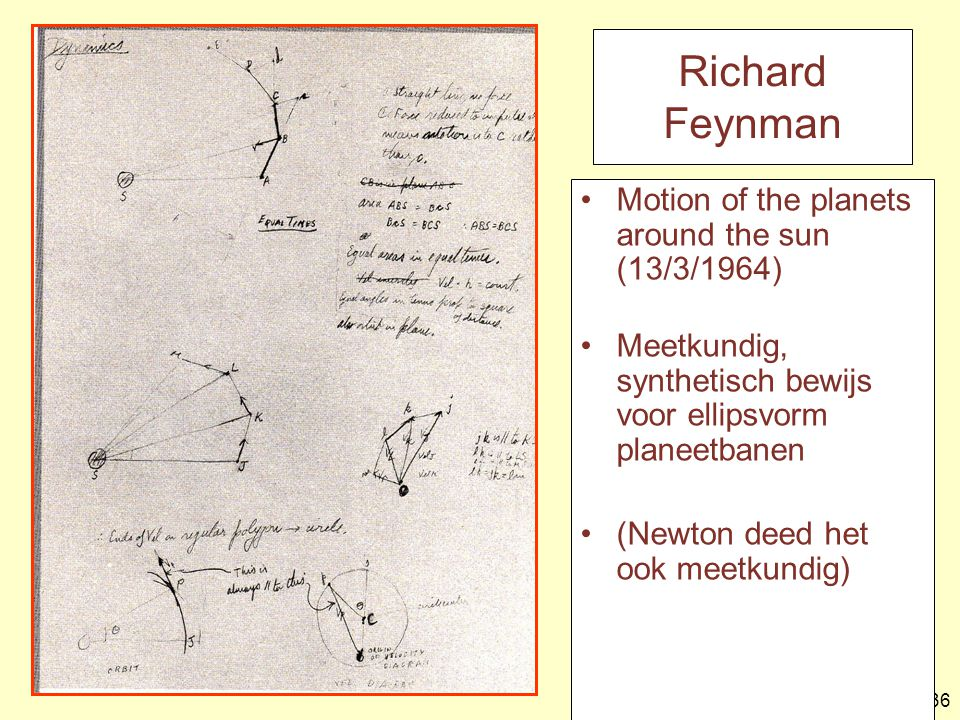 Richard Feynman Motion of the planets around the sun (13/3/1964)