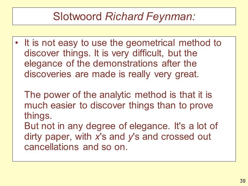Slotwoord Richard Feynman: