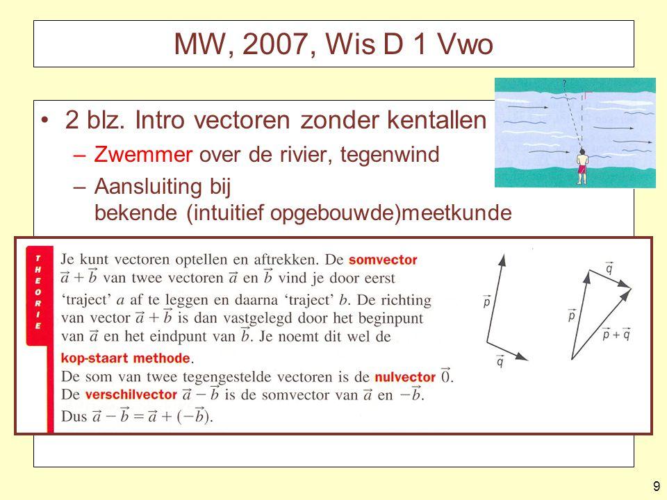 MW, 2007, Wis D 1 Vwo 2 blz. Intro vectoren zonder kentallen