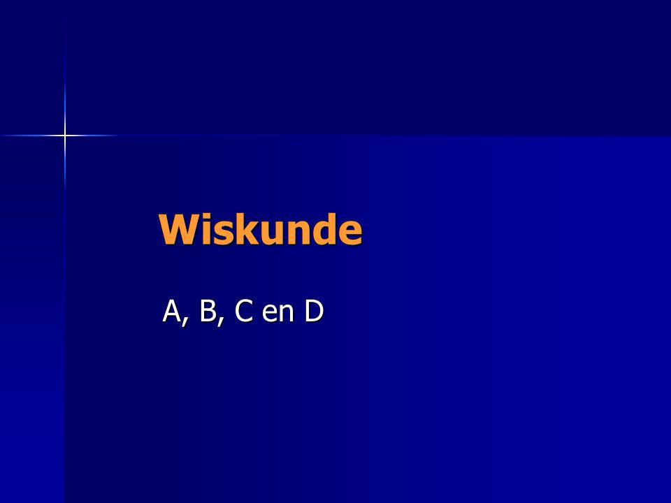 Wiskunde A, B, C en D