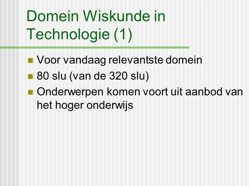Domein Wiskunde in Technologie (1)