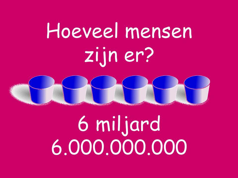 Hoeveel mensen zijn er 6 miljard 6.000.000.000