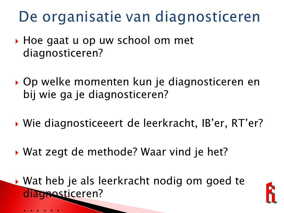 De organisatie van diagnosticeren