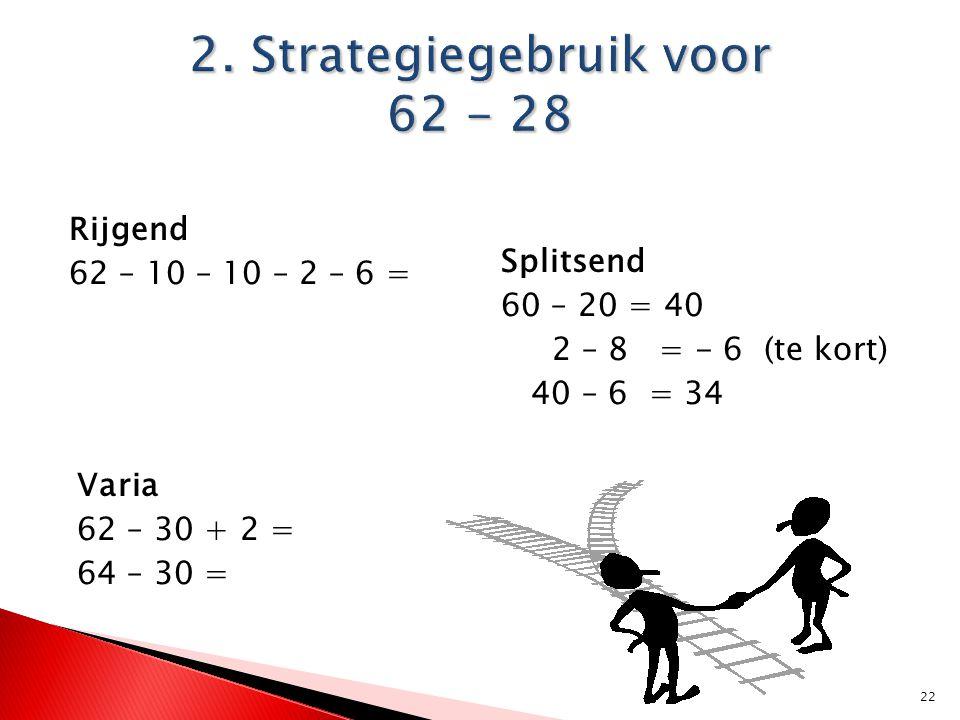 2. Strategiegebruik voor 62 - 28