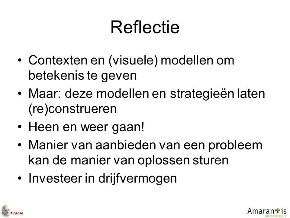 Reflectie Contexten en (visuele) modellen om betekenis te geven