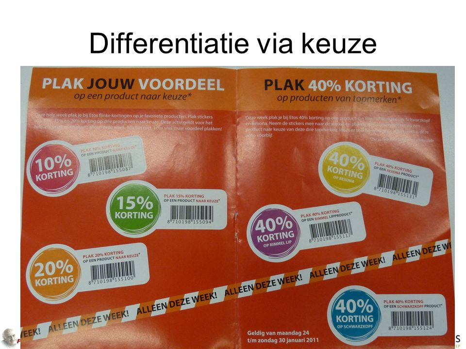 Differentiatie via keuze