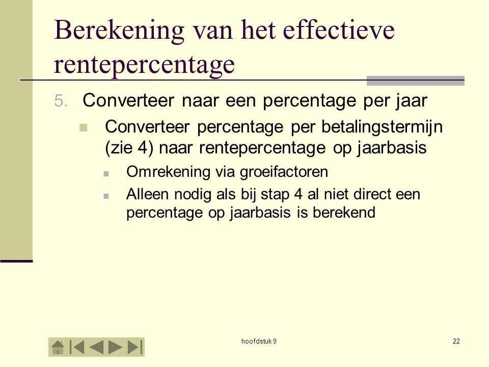 Berekening van het effectieve rentepercentage