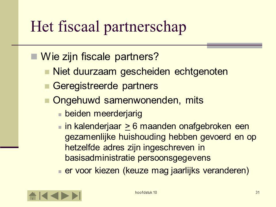Het fiscaal partnerschap