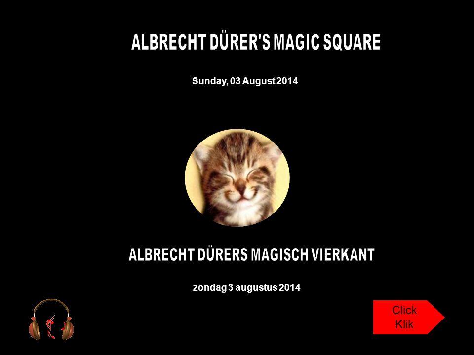 ALBRECHT DÜRER S MAGIC SQUARE ALBRECHT DÜRERS MAGISCH VIERKANT