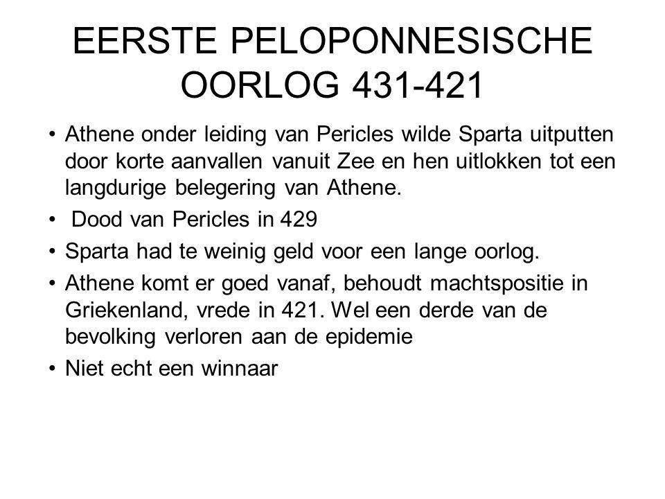 EERSTE PELOPONNESISCHE OORLOG 431-421